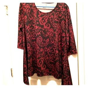 Purple and black Faded glory blouse 1x(16w)